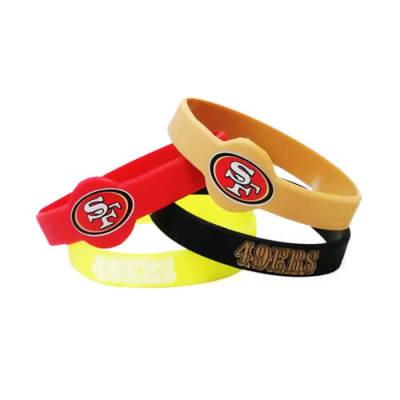 アミンコ NFL シリコンブレスレット(4本パック) 49ers