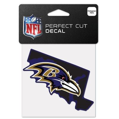 ウィンクラフト NFL ディキャルシール ステイトシェイプ レイブンズ